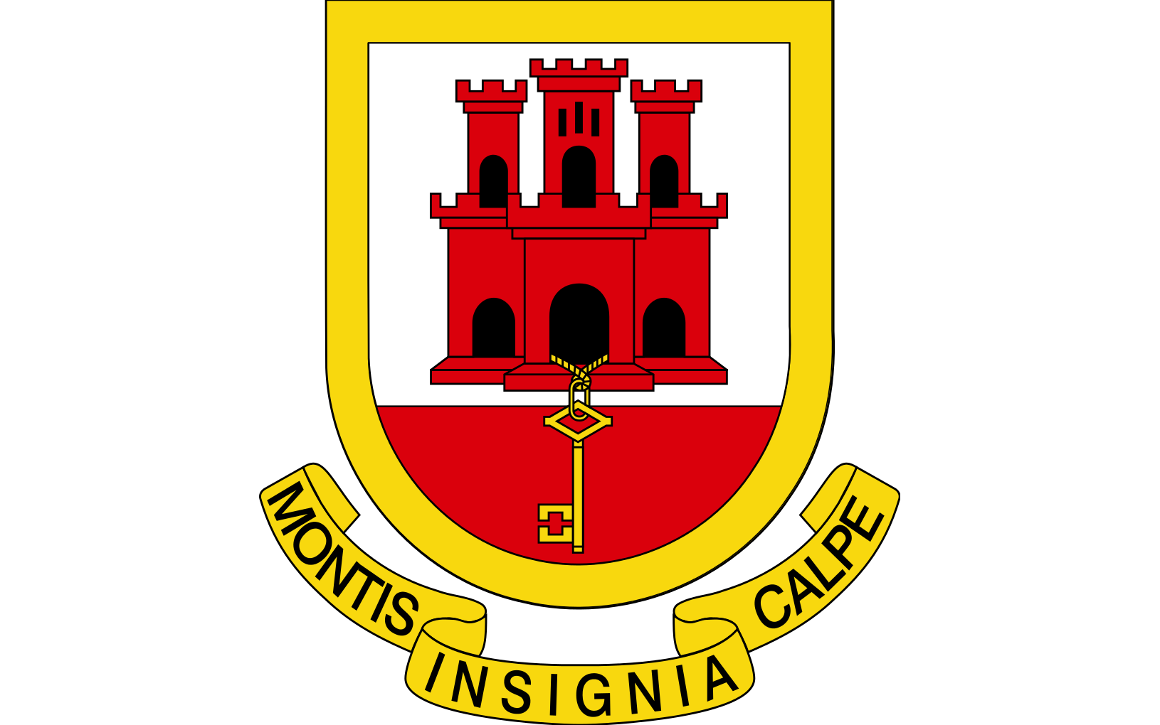 montis insignia calpe - Badge of the Rock of Gibraltar