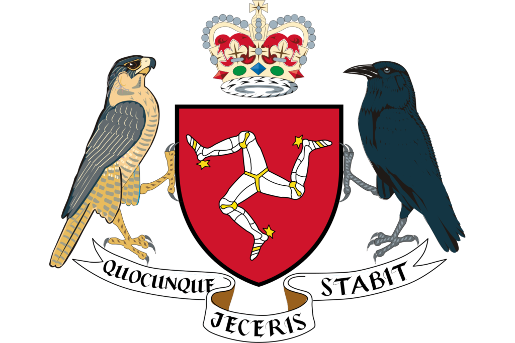 Quoqunque jeceris stabit - Isle of Man Coat of Arms